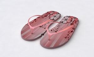 3ds max flip flop sandal