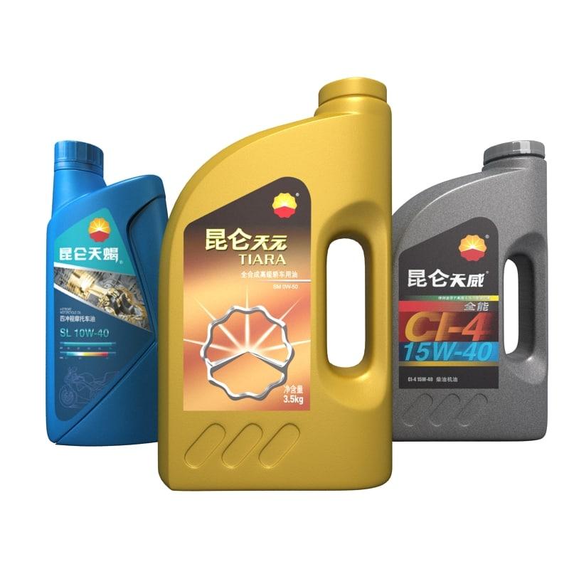 3d model of lubricating oil bottle
