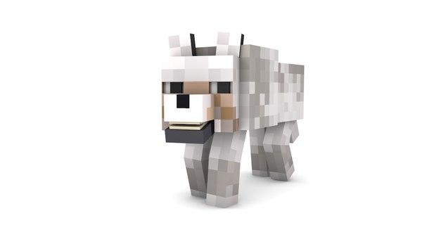 minecraft wolf 3d c4d