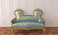 Classical antique furniture Sofa Rococo