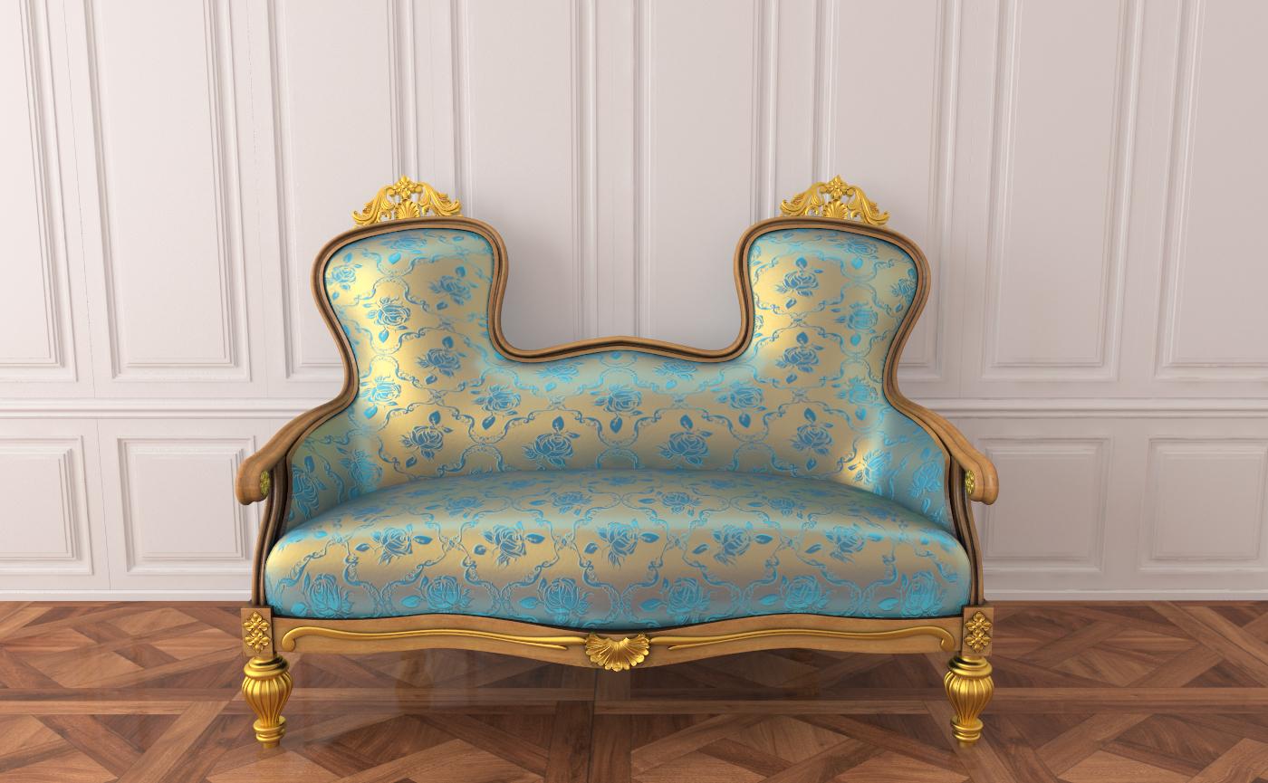 3d Sofa Rococo Furniture Model