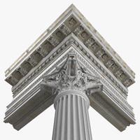 max corinthian column entablature