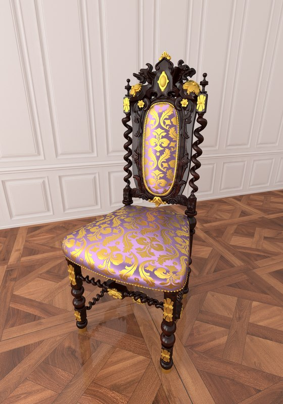 3dsmax chair furniture carving