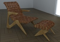 Armchair Adesso - Z Line Chaise Lounge by José Zanine Caldas