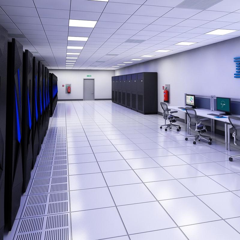 3d data server center ibm