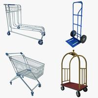 airport cart 01 3d model
