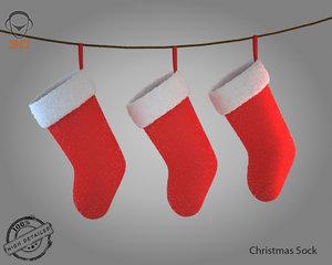 christmas sock 3d model