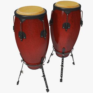 3d model conga drums 2