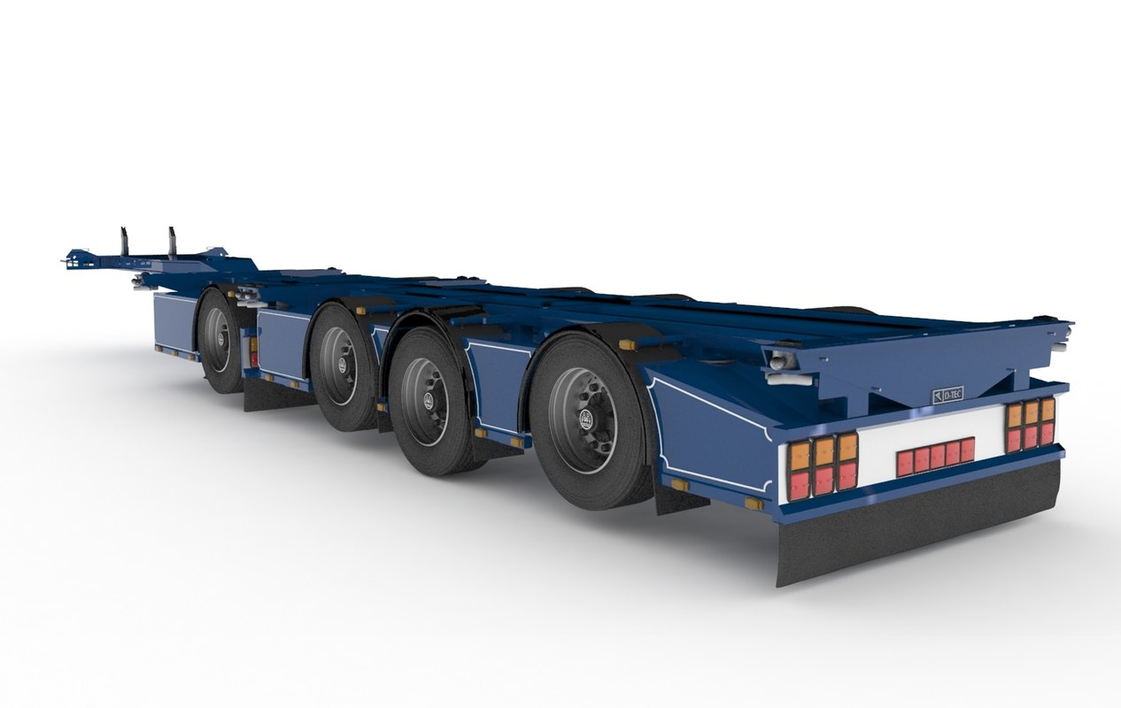 3d model of d-tec chassis