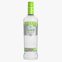smirnoff lime vodka bottle 3d max