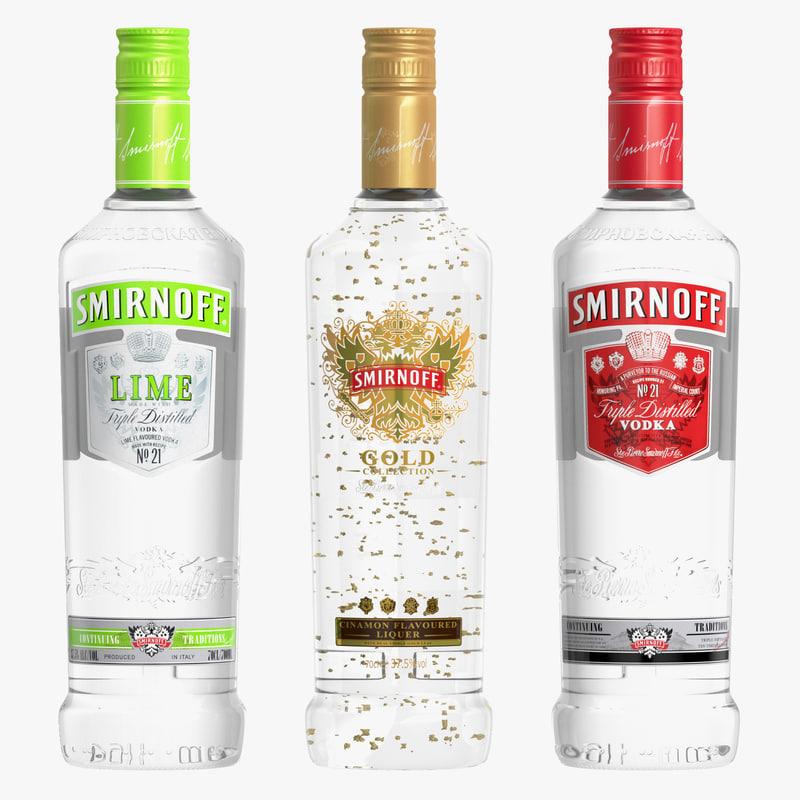 smirnoff vodka 3d model