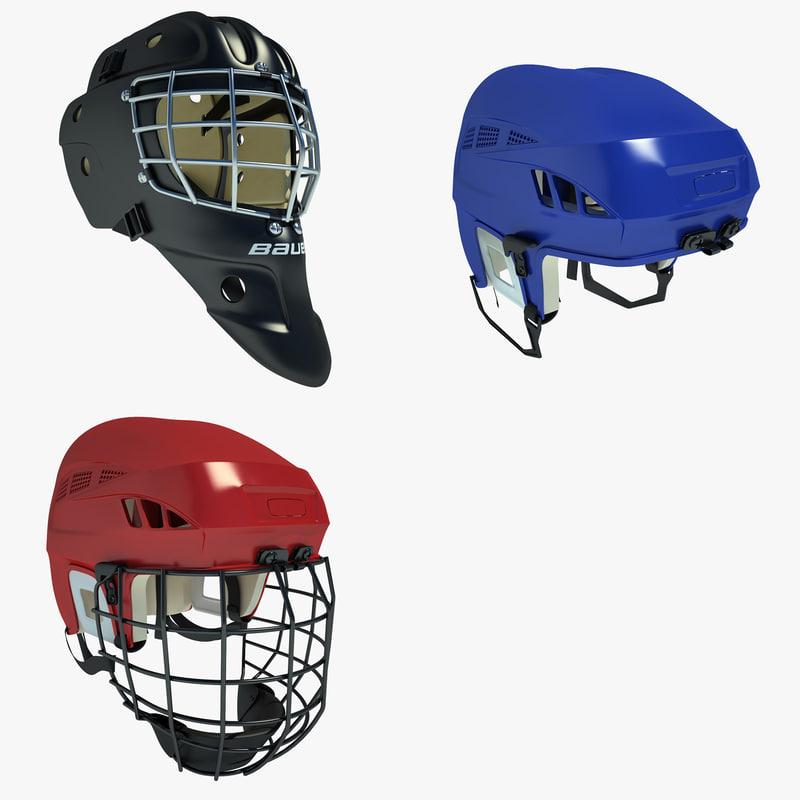 3d ice hockey helmet 01 model