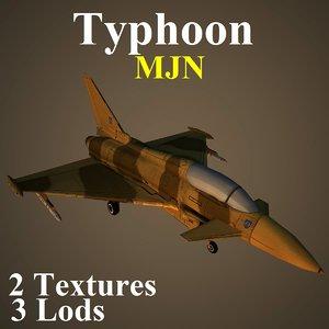 3d model eurofighter typhoon mjn