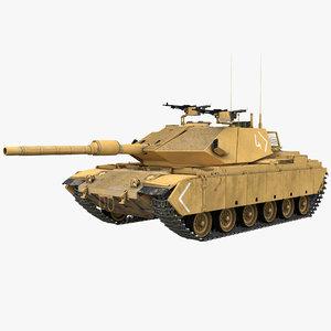 3d model main battle tank sabra