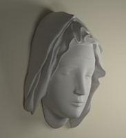mother mary head statue obj