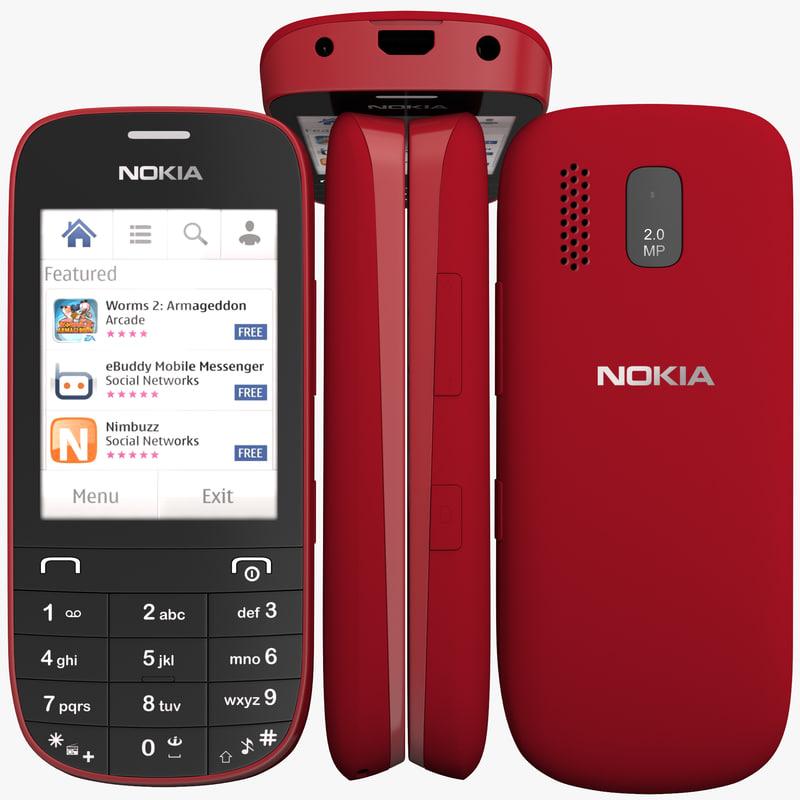 3d Nokia Asha 203