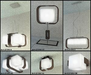 3d odeon table lamp model