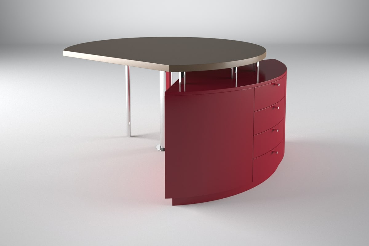 3ds max custom director office table