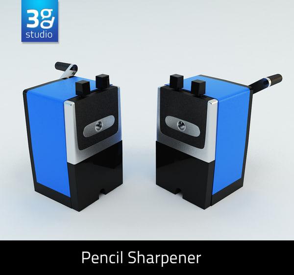 manual pencil sharpener 3d 3ds