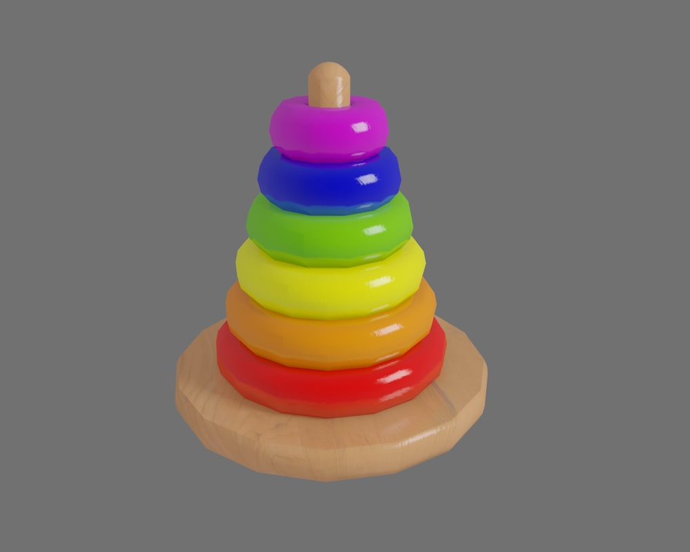 3d classic ring toy model