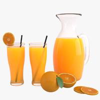 orange juice 3d max
