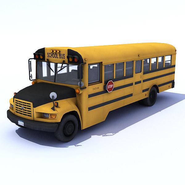 3ds max school bus