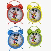 obj alarm clock mouse miki