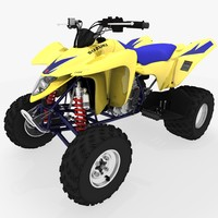 suzuki ltz-400 quad bike 3d ma