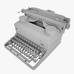 typewriter royal writer 3d model