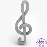 3d treble clef b model