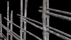 old wooden fence obj