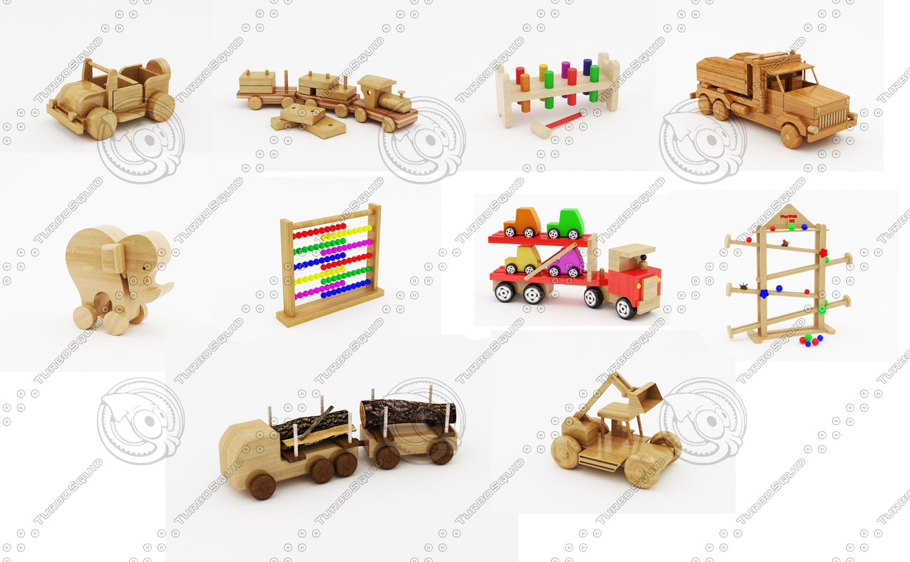 3ds max wooden toys pack