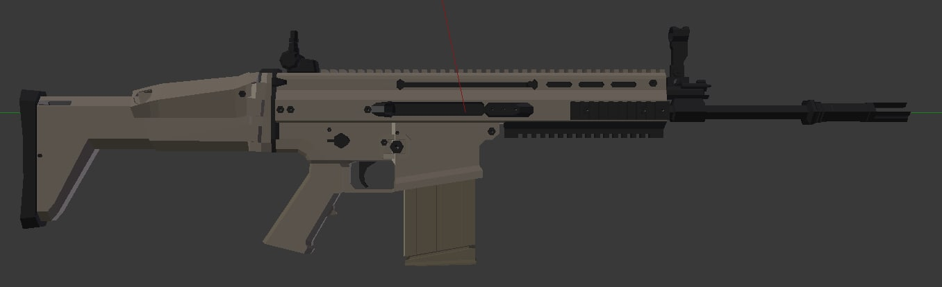 modern assault rifle 3d model