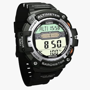 casio watch 3d model