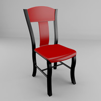 3d kitchen chair