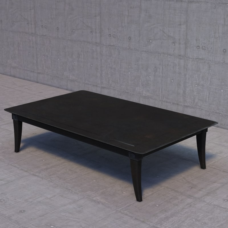 3d model restoration hardware klismos coffee table