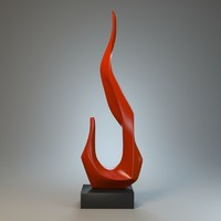 3d model of sculpture flame