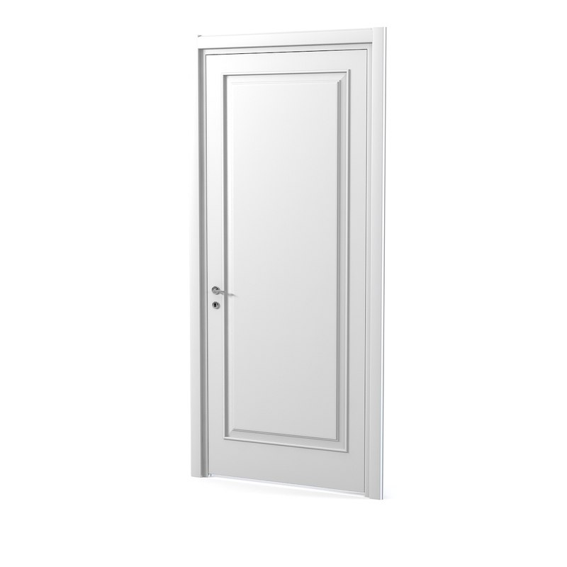 3ds max white door