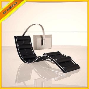 modern work station chair 3ds