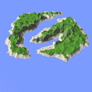 landscape island 3d model