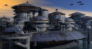 free obj model scifi complex