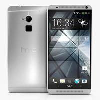 htc black silver 3d model