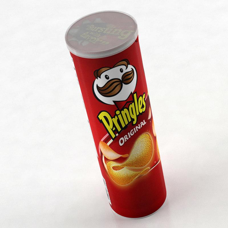 3d pringles chips scanline