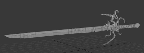 3d sword broadsword model
