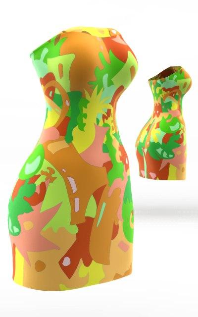 3d model dress cloth simulations