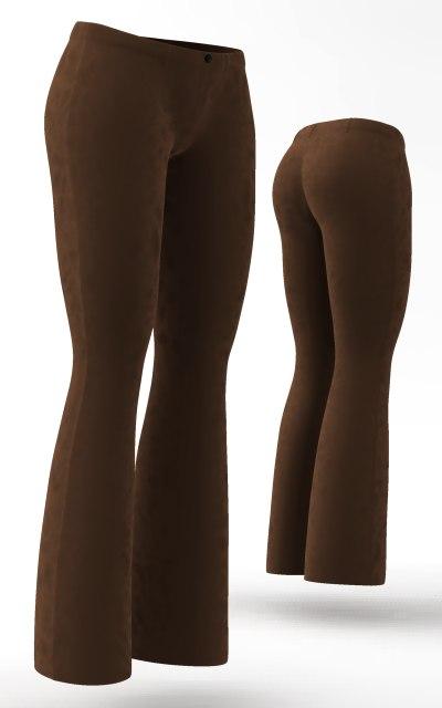 pants cloth simulations 3d model