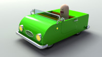 Rigged Toy Convertible car