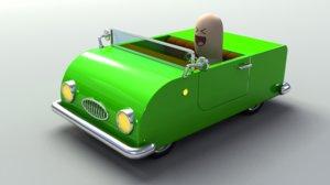 3d car rigged