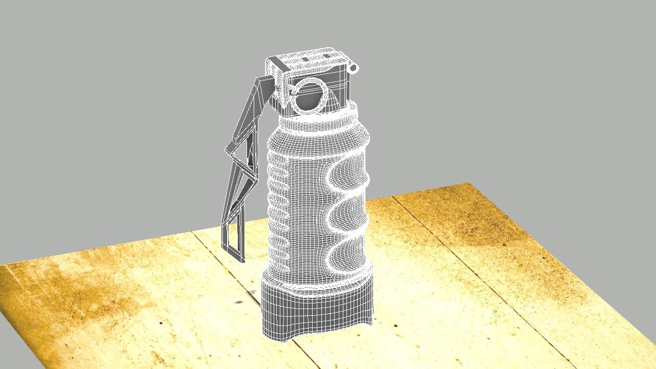 grenade 3d obj