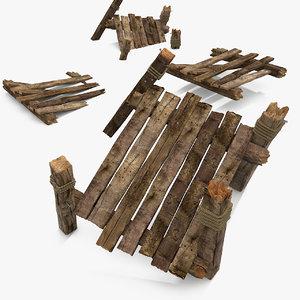wooden water 3d model